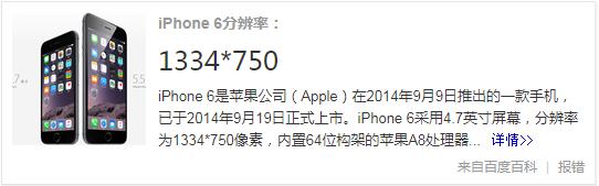 iphone6分辨率